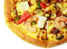Pizza z owoce morza Zdjęcia Stock