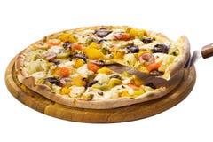 Pizza z owocowym plombowaniem Zdjęcie Royalty Free