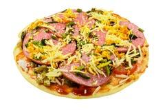 Pizza z pepperoni obrazy royalty free