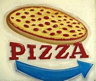Pizza-Zeichen Lizenzfreies Stockbild