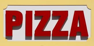 Pizza-Zeichen Stockfoto