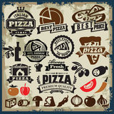 Pizza znaka set Fotografia Royalty Free