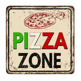 Pizza zone vintage rusty metal sign Royalty Free Stock Photos
