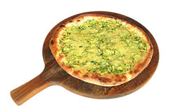 Pizza Zucchine e Mozzarella Lizenzfreies Stockfoto