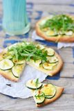 Pizza with zuchinni Royalty Free Stock Images