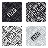 Pizzaachtergrond Royalty-vrije Stock Afbeeldingen