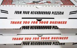 Pizzaaskar Royaltyfria Foton