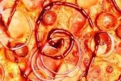 Pizzabakgrundssikt arkivbilder