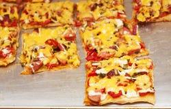 Pizzabesnoeiing Royalty-vrije Stock Fotografie
