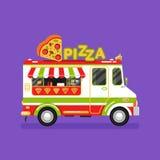Pizzabestelwagen Stock Afbeeldingen