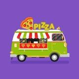 Pizzabestelwagen Stock Foto's
