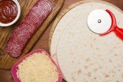 Pizzaboden - Kuchen stockbild