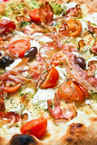 Pizzabovenste laagje Stock Foto's
