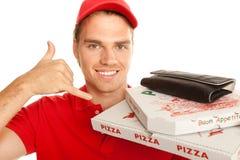 Pizzaboy rufen mich an stockfotos