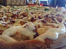 Pizzabrokkoli und -ranch Stockfoto