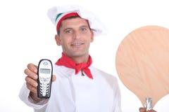Pizzachef-kok Royalty-vrije Stock Afbeeldingen