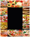 Pizzacollage Arkivfoto