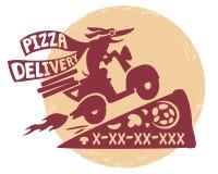 Pizzadelivery Arkivbild