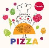 Pizzadesign-Menüschablone Stockbilder