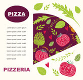 Pizzadesign-Menüschablone Lizenzfreies Stockfoto