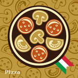 Pizzadesignmall Arkivbilder