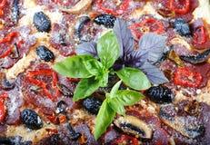 Pizzadetail Stockfoto