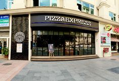 PizzaExpress Restaurant in Powai, Mumbai, India Stock Photography