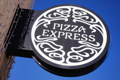PizzaExpress sign Royalty Free Stock Image