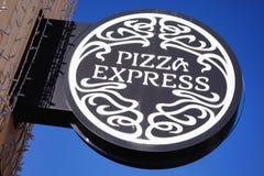 PizzaExpress-Zeichen Lizenzfreies Stockbild