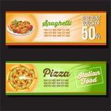 Pizzafahne Stockfotografie