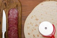 Pizzagrund - kaka arkivbild
