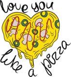 Pizzahjärta Royaltyfria Bilder