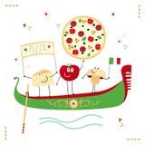 Pizzaillustratie Royalty-vrije Stock Afbeeldingen