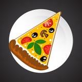 Pizzaillustratie Stock Foto