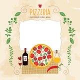 Pizzaillustration royaltyfri illustrationer
