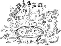 Pizzaingrediënten royalty-vrije stock afbeelding