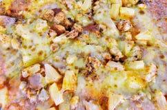 Pizzaingrediens med chesse Royaltyfri Fotografi