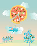 Pizzakaninchen Lizenzfreies Stockbild