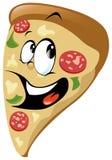 Pizzakarikatur Stockfoto