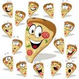 Pizzakarikatur Lizenzfreies Stockfoto