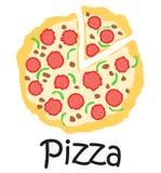 Pizzaklistermärke Royaltyfria Foton