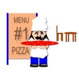 Pizzakock Arkivfoto