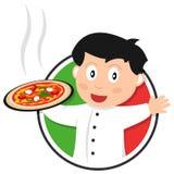 Pizzakocklogo Royaltyfri Fotografi