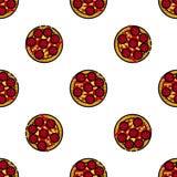 Pizzalägenhetmodell Royaltyfri Foto