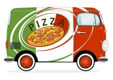 Pizzaleveransbil Arkivbild