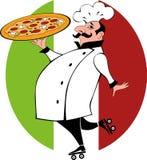 Pizzaleveransgrabb Royaltyfri Bild