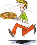 Pizzalevering Royalty-vrije Stock Foto's