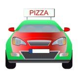 Pizzalieferungsauto Stockfoto