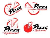 Pizzalogo vektor illustrationer