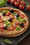 Pizzamargarita Arkivbild